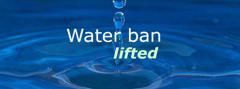 Water ban lifted