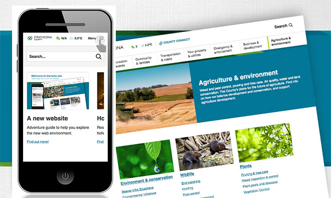 Strathcona County launches new website