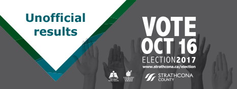 Strathcona County Election 2017 - Unofficial results
