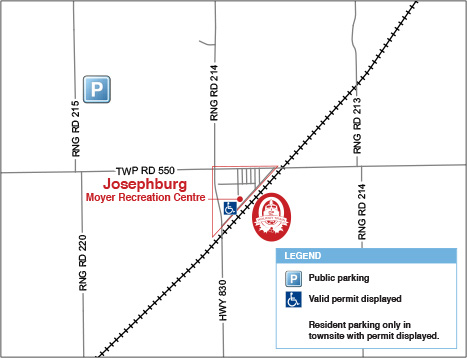 Parking map for 2016 CP Holiday Train event
