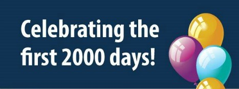 Celebrating your child's first 2,000 days