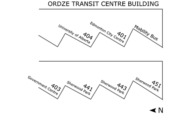 Ordze Transit Centre bus assignments