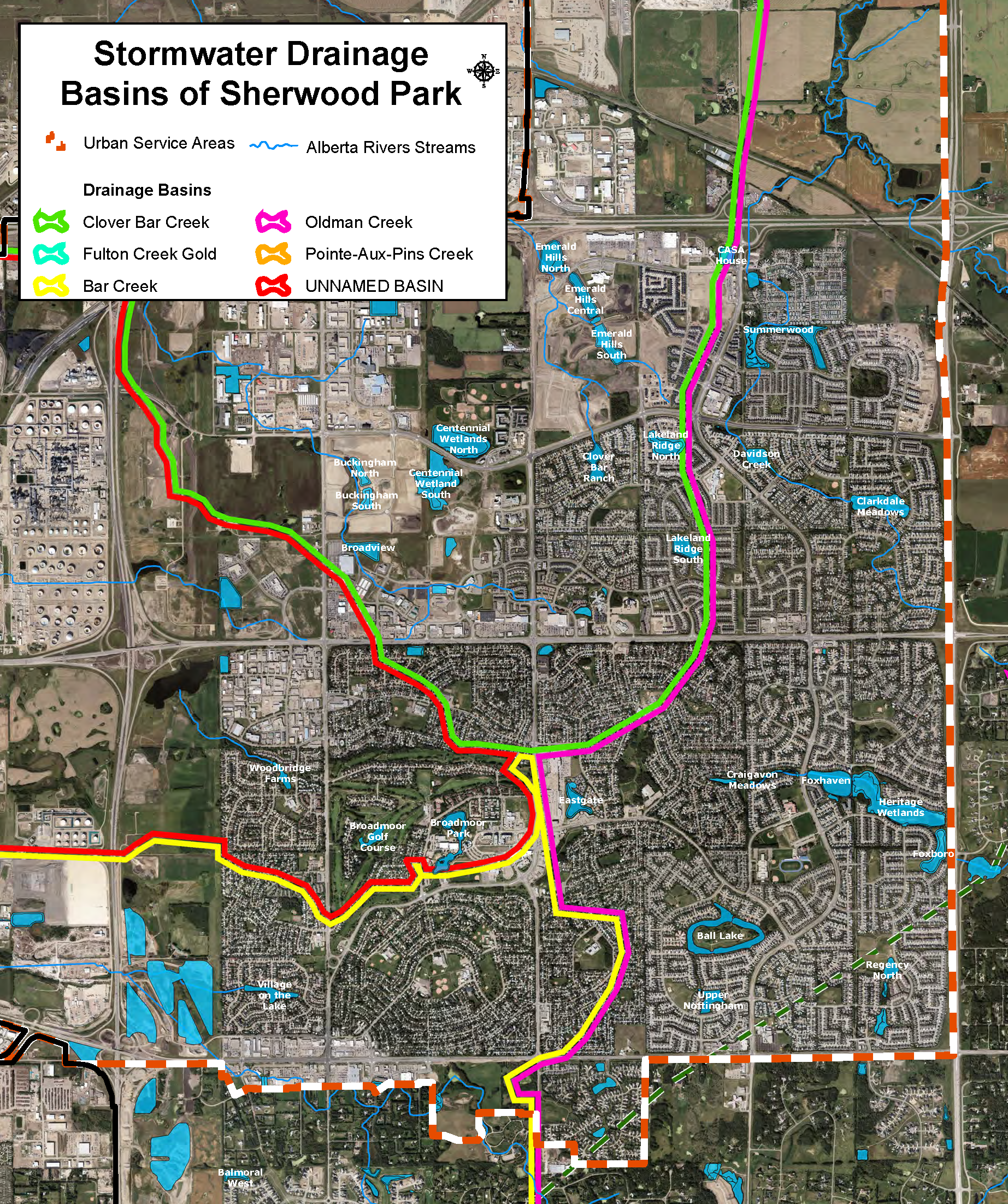 PDS Stormwater drainage map