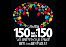 150 for / pour 150 Volunteer challenge / Defi des benevoles