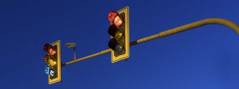 Traffic signals replacing nighttime flash