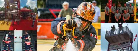 Watch firefighters compete in the toughest two minutes in sports!