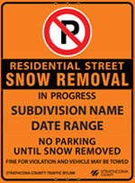 Residential street parking bans