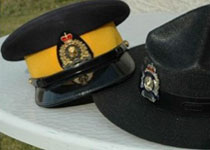Image of RCMP officers hats
