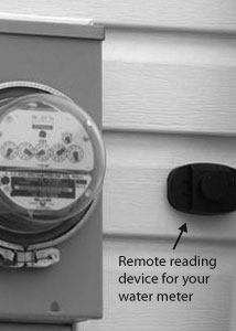 Remote water mter reading device