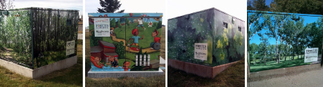 Utility box anti-graffiti wraps