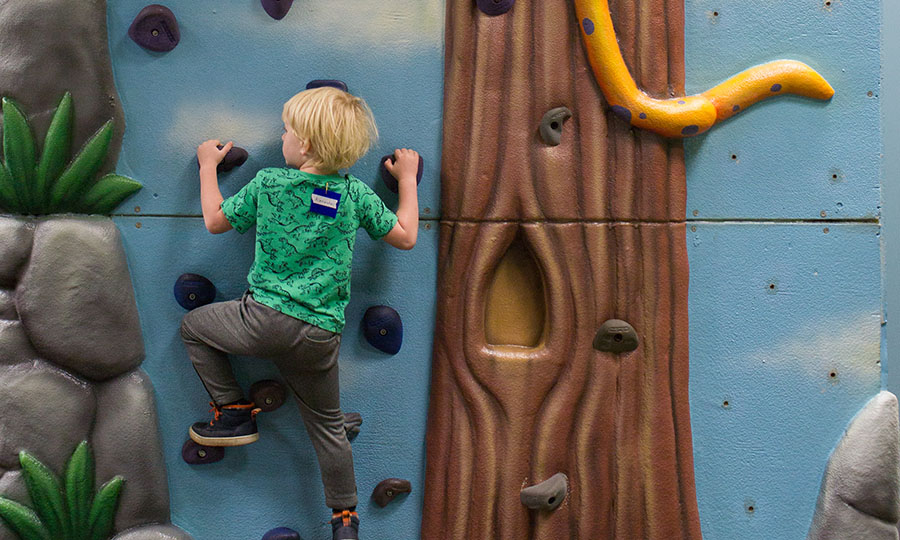 KLC - preschool playground climbing wall