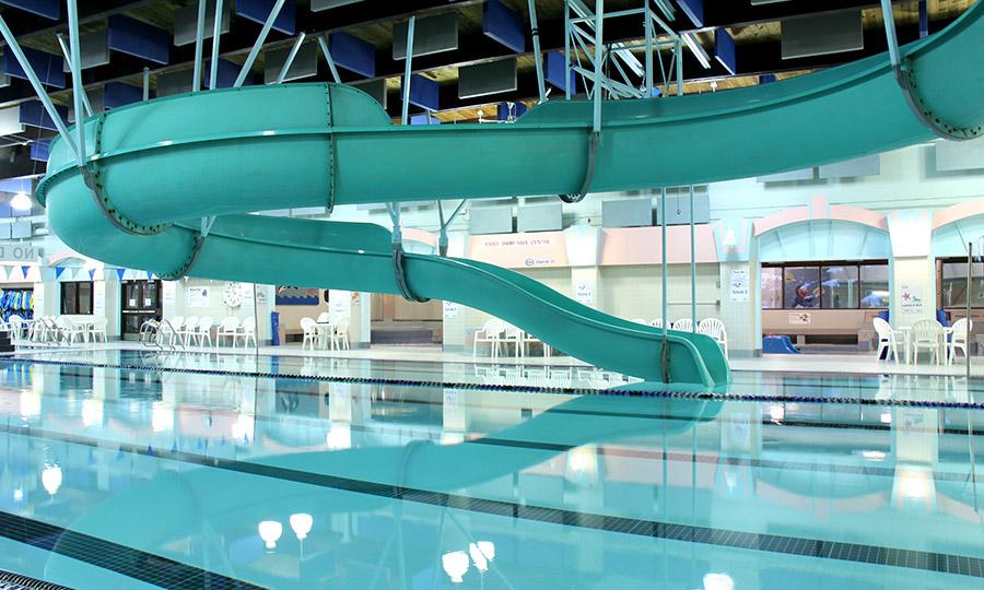 indoor pool with waterslide. KLC - Waterslide Indoor Pool With