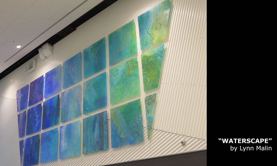 """WATERSCAPE"" by Lynn Malin Emerald Hills Leisure Centre"