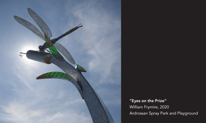 """Eyes on the Prize"" by William Frymire, 2020, Ardrossan Spray Park and Playground"