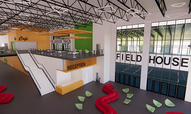Indoor multi-use fieldhouse moves into detailed design