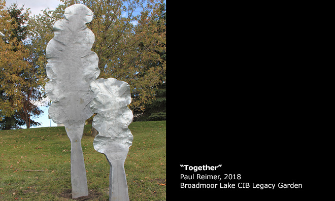 """Together"" by Paul Reimer, 2018, Broadmoor Lake Park CIB Legacy Garden"