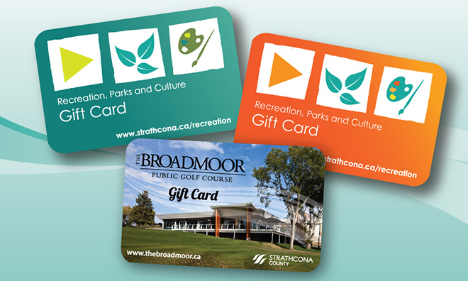 Give the gift of fun and fitness with a recreation gift card.