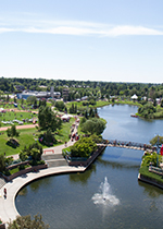 Aerial view of Broadmoor Lake