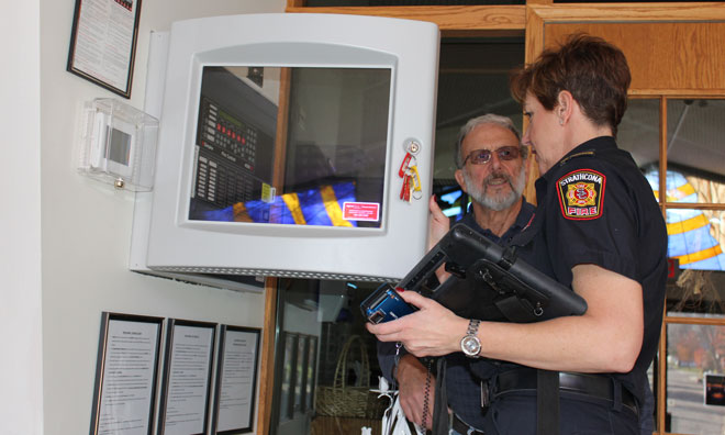 Fire prevention inspection in a residents home