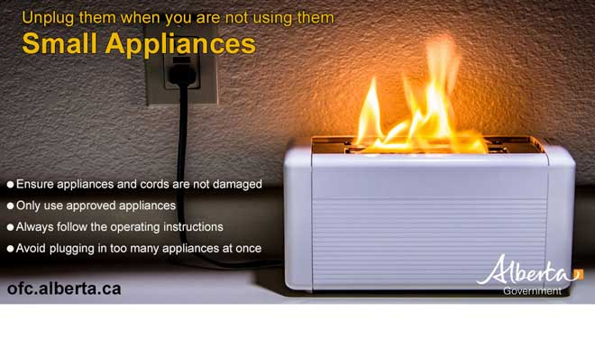 Unplug your small appliances to reduce fires