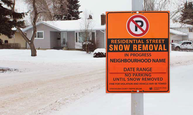 Residential street snow removal begins Tuesday, January 28