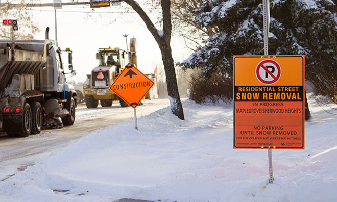 Residential snow removal begins Monday, February 11