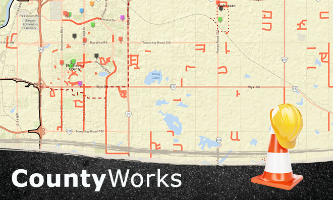 Image of the CountyWorks construction map