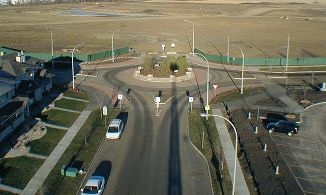 Image of roundabout in Sherwood Park