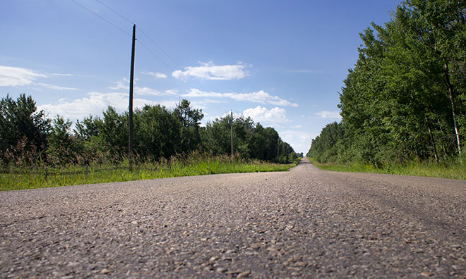 Image of rural road in Strathcona County