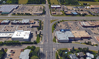 Image showing an aerial view of Sherwood Drive
