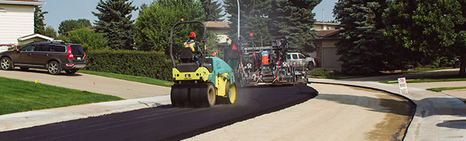Image showing asphalt being put down on residential road