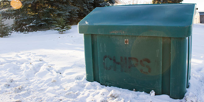 Image showing a local green chip box
