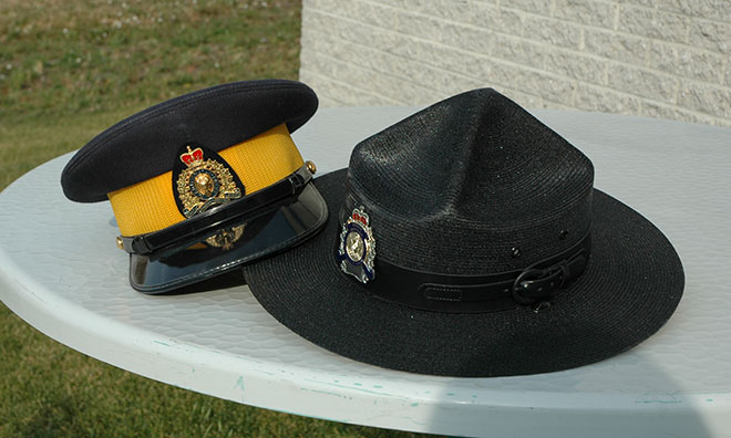 Image of RCMP officer hats