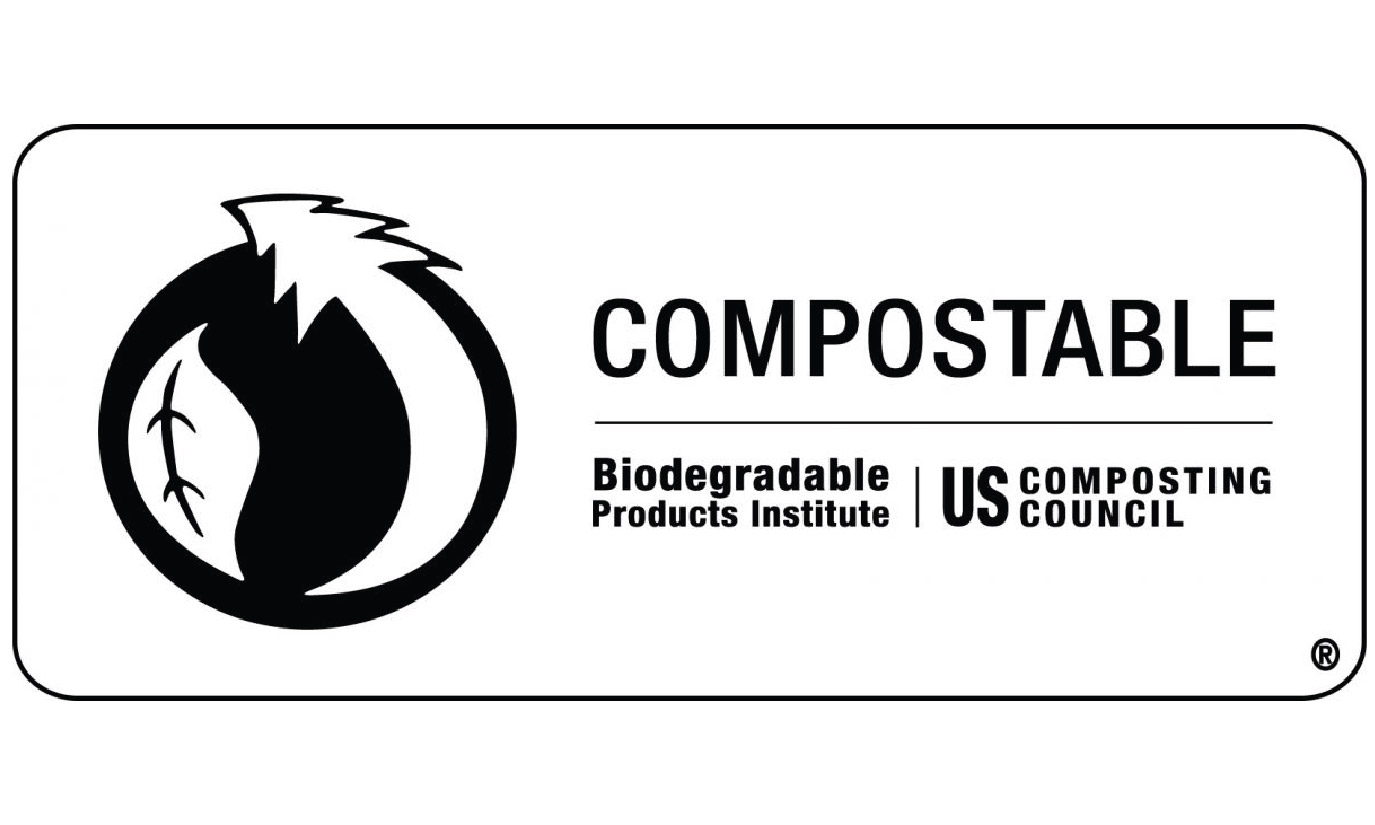 image of a the certified compostable logo