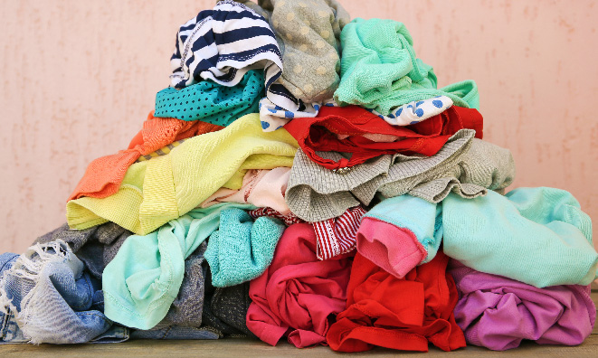 Pile of clothes.