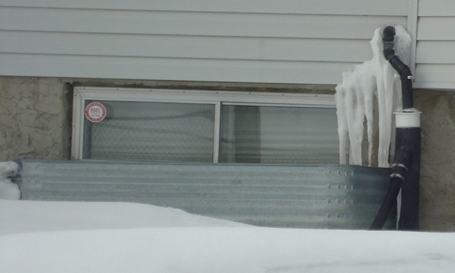 Sump Pump Discharge In Winter Strathcona County