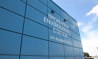 Image of Broadview Enviroservice Station building.