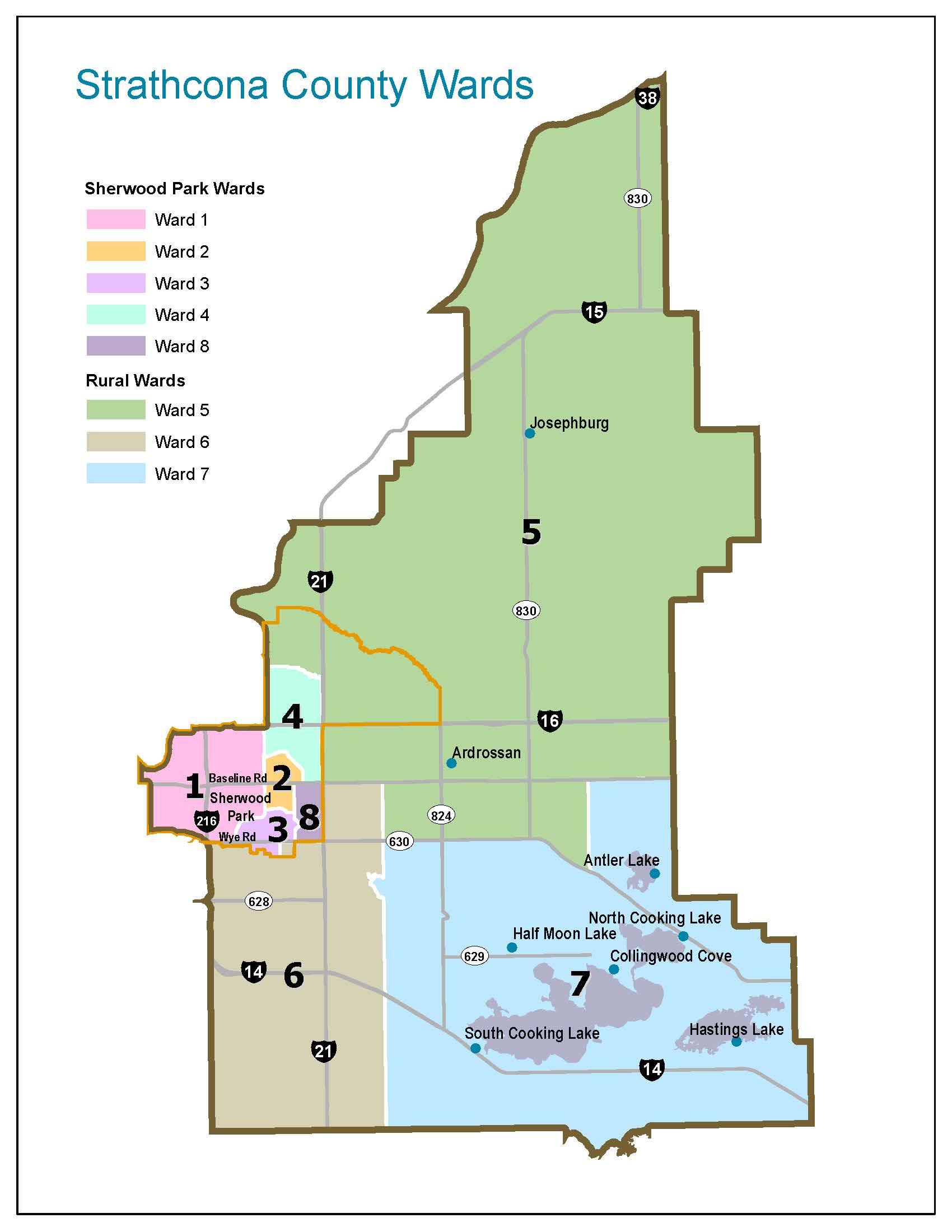 Strathcona County Subdivision Maps Strathcona County Wards | Strathcona County